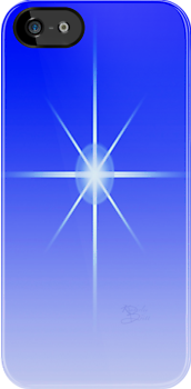 Blue Star iPhone case by KBritt
