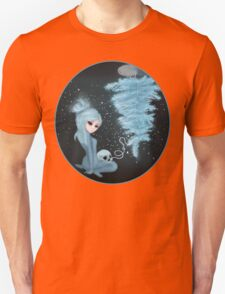 Intercosmic Christmas in Blue Unisex T-Shirt