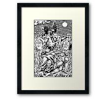 Ghoul Feeding Framed Print