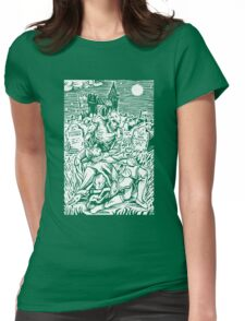 Ghoul Feeding (White)  Womens Fitted T-Shirt