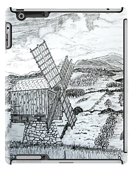 Traditional Romanian Windmill iPad case by Dennis Melling