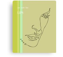 one line lips Canvas Print