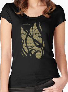 Mask gold metalic Women's Fitted Scoop T-Shirt
