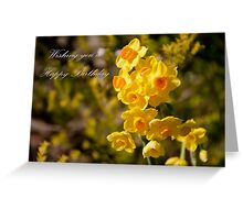Happy Daffodils Greeting Card