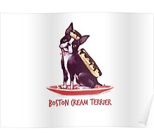 Boston Cream Terrier Poster