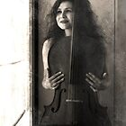 Woman with cello by Anita Orheim