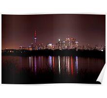 Toronto Skyline at Night Poster