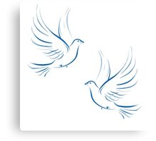 Pair of Doves Canvas Print