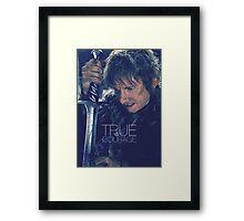 True Courage Framed Print