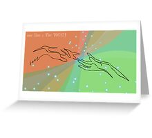 one line touch Greeting Card