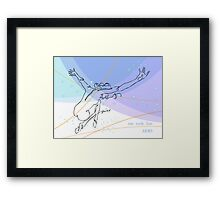 one line swing arms Framed Print