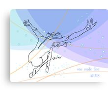 one line swing arms Canvas Print