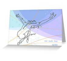 one line swing arms Greeting Card