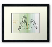 one line zebra Framed Print