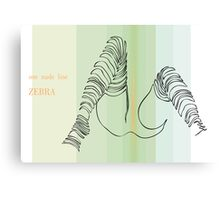 one line zebra Canvas Print