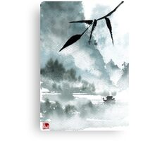 Peaceful River Chinese Landscape Canvas Print