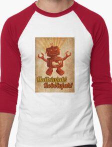 Hallelujah! Robolujah! Men's Baseball ¾ T-Shirt
