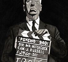 Alfred Hitchcock by Robert Merriam