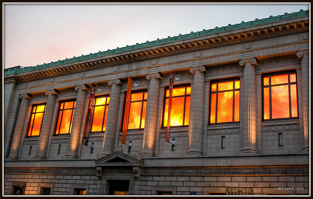 New York Historical Society at Sunset by Mikell Herrick