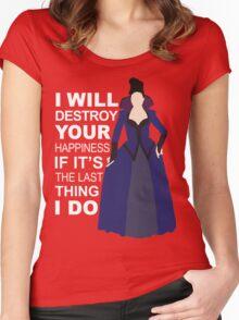 Regina Mills - Destroy Your Happiness Women's Fitted Scoop T-Shirt