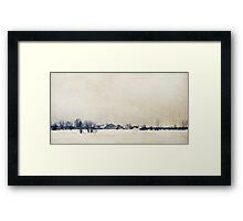 Winter In A Farm Framed Print