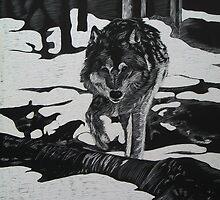 Winter Wolf by Robert Merriam