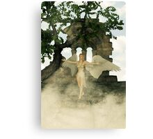 Angel and The Sacred Ruins Canvas Print