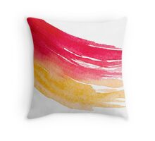 Colorful Watercolor Brush  Throw Pillow
