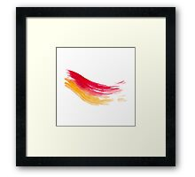 Colorful Watercolor Brush  Framed Print