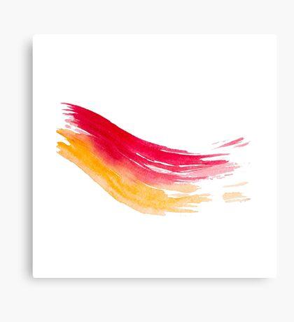 Colorful Watercolor Brush  Canvas Print