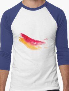 Colorful Watercolor Brush  Men's Baseball ¾ T-Shirt