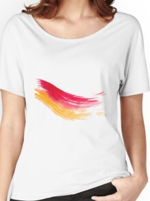 Colorful Watercolor Brush  Women's Relaxed Fit T-Shirt