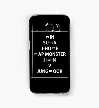 BTS hangul name Samsung Galaxy Case/Skin