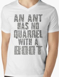 An Ant Has No Quarrel With A Boot - Black Mens V-Neck T-Shirt