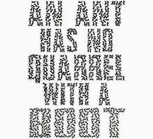 An Ant Has No Quarrel With A Boot - Black Mens V-Neck T-Shirt