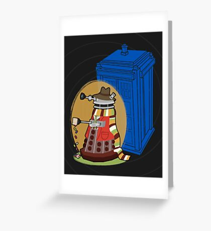 Daleks in Disguise - Fourth Doctor Greeting Card