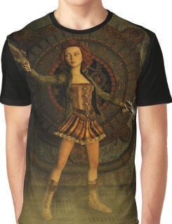Anime Meets Steampunk Graphic T-Shirt