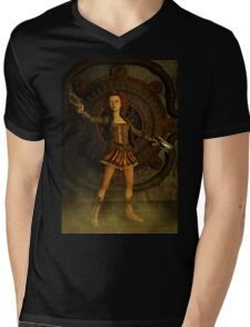 Anime Meets Steampunk Mens V-Neck T-Shirt