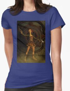 Anime Meets Steampunk Womens Fitted T-Shirt