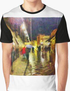 Rainy night, Ponte Vecchio, Florence, Italy Graphic T-Shirt