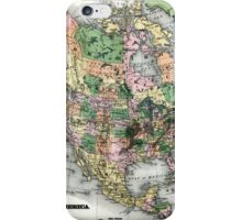 Map of the North American continent iPhone Case/Skin