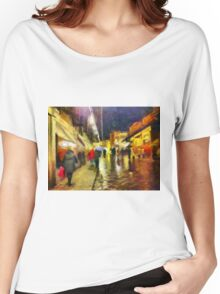 Rainy night, Ponte Vecchio, Florence, Italy Women's Relaxed Fit T-Shirt