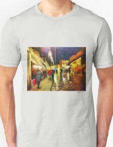 Rainy night, Ponte Vecchio, Florence, Italy T-Shirt