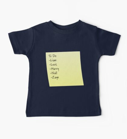 One Direction To Do List Baby Tee