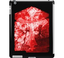 Red Crucifix on Glass Window iPad Case/Skin