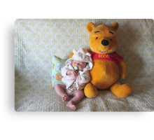 My Friend Pooh Bear Canvas Print