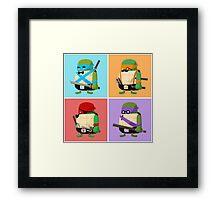 Teenage Mutant Ninja Turtles Pop Art Framed Print
