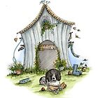 Harleys House - Dog Cards & Prints  by Michelle Campbell