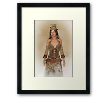 Steampunk Wild West Lady Framed Print