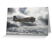 Dakota DC3  - Aerial Workhorse Greeting Card